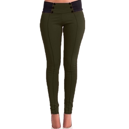 New Fashion Women Slim Pants Elastic Low Waist Buttons Sexy Bodycon Skinny Pencil Leggings TrousersNew Fashion Women Slim Pants Elastic Low Waist Buttons Sexy Bodycon Skinny Pencil Leggings Trousers<br><br>Blade Length: 20.0cm