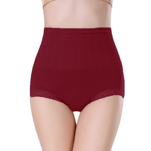 Fashion Women Shapewear Panties Lace Trim Belly