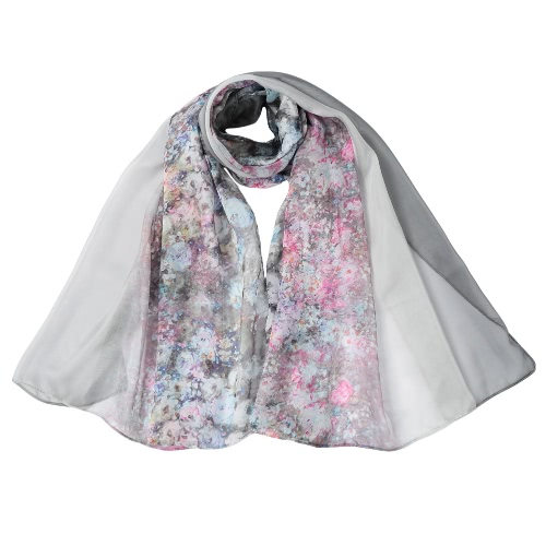 New Vintage Women Chiffon Scarf Floral Print Contrast Color Long Thin Shawl PashminaScarves &amp; Shawls<br>New Vintage Women Chiffon Scarf Floral Print Contrast Color Long Thin Shawl Pashmina<br><br>Blade Length: 15.0cm