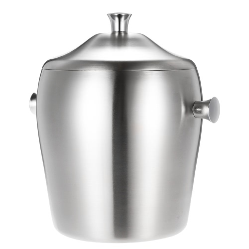 1L Luxury Good Quality Double-walled Ice Bucket Practical Stainless Steel Ice Bucket with LidBarware<br>1L Luxury Good Quality Double-walled Ice Bucket Practical Stainless Steel Ice Bucket with Lid<br><br>Blade Length: 17.5cm