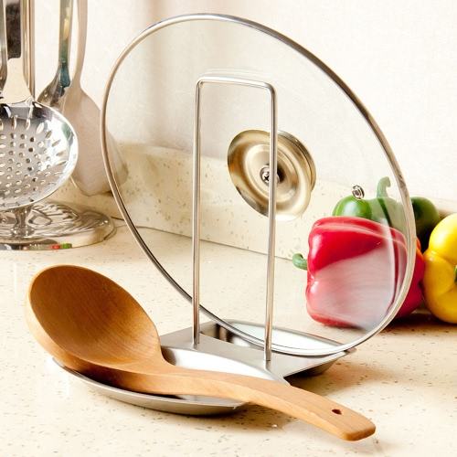 Image of High Quality Stainless Steel Lid Spoon Holder Kitchenware Stand Organizer Kitchen Tool