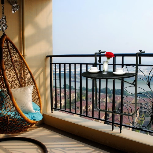 iKayaa Adjustable Folding Balcony Deck Table Hanging Patio Railing Coffee TableTables<br>iKayaa Adjustable Folding Balcony Deck Table Hanging Patio Railing Coffee Table<br><br>Blade Length: 70.0cm