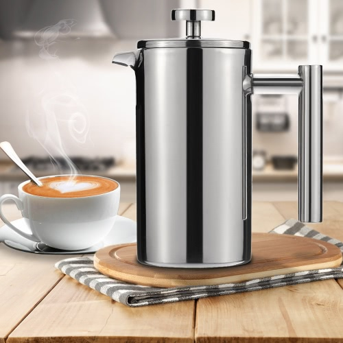 350ml Stainless Steel French Press Pot Cafetiere Coffee Cup Tea Filter Thick WallCooking Tools<br>350ml Stainless Steel French Press Pot Cafetiere Coffee Cup Tea Filter Thick Wall<br><br>Blade Length: 17.0cm