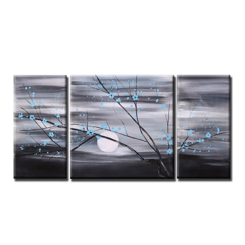 Buy Unframed Hand Painted Modern Abstract Oil Painting Set Canvas Paint Wall Decor Art Living Room Decoration