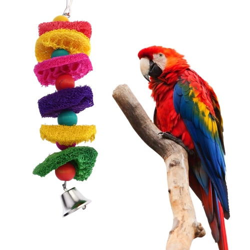 Colorful Natural Loofah Bird Parrot Cage Toys