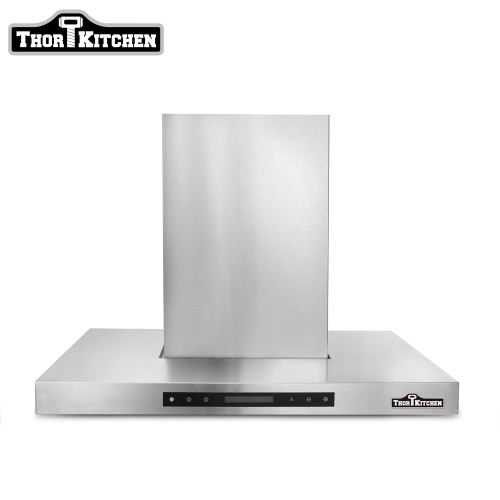 "Image of THOR KITCHEN HRH3004U 30"" European Style Under Cabinet Wall-Mounted Kitchen Stainless Steel Range Hood Vent with Touch Sensor Control 700 CFM Kitchen Ventilator High Quality Baffle Filter"