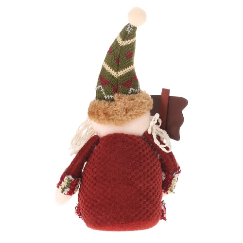 Festnight Attractive Lovely Christmas Toy Doll Delicate Adorable Santa Clause Reindeer Snowman Christmas Decoration Cloth Doll