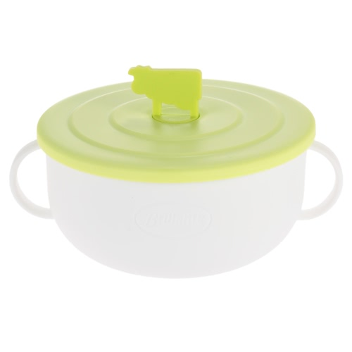 3Pcs/set Feeding Bowl with Lid for Toddler Baby Kids Children 304 Stainless Steel Tableware H16567-2