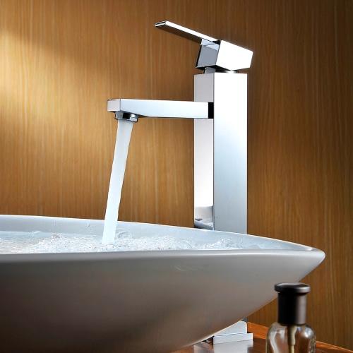 Homgeek High-quality Modern Deck Mount Single Lever Bathroom Basin Sink Brass Faucet Mixer Tap Chrome Finish Home HotelFaucets<br>Homgeek High-quality Modern Deck Mount Single Lever Bathroom Basin Sink Brass Faucet Mixer Tap Chrome Finish Home Hotel<br><br>Blade Length: 35.0cm