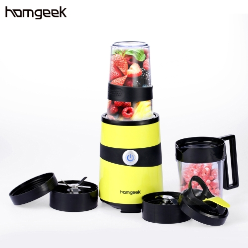 Homgeek Multifunctional Nutri Extractor Mixer Detachable Fruits Juicer Practical Grinding Machine Blender