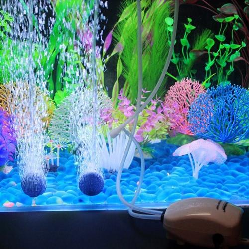 Ultra Silent Aquarium Air Pump Double Outlet 3W 220-240V EU Plug Fish Tank Oxygen AirpumpFish&amp;Aquatic pets<br>Ultra Silent Aquarium Air Pump Double Outlet 3W 220-240V EU Plug Fish Tank Oxygen Airpump<br><br>Blade Length: 12.0cm