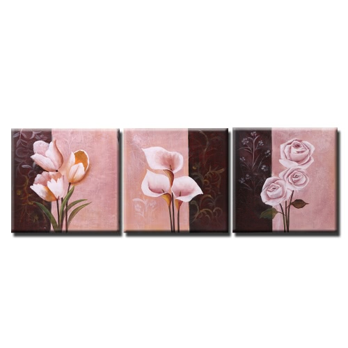 Buy Unframed Hand Painted Oil Painting Set Orchid Flower Modern Picture Canvas Paint Wall Decor Art Living Room Decoration
