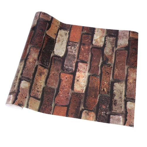 Buy Vintage Vivid 3D Stone Brick Chinese Retro Style Water Resistant Faux Wall Pattern Wallpaper Room Decoration Background 0.53m*10m=5.3u33a1