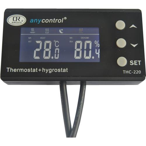Rétro-éclairage LCD Digital Reptile température & humidité contrôleur double usage Thermostat Hygrostat pour vert maison champignon élever incubateur de Terrarium Reptile lézard boîte corail jour & Simulation de nuit