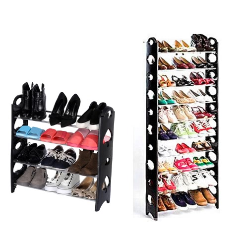 Simple Stackable 4 Tier 12 Pair Shoes