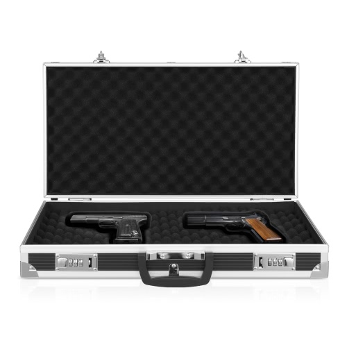 iKayaa Aluminum Framed Hard Locking Pistol Gun Case Handgun Revolver Carry Storage Box With 2 Combination LockIndoor furniture<br>iKayaa Aluminum Framed Hard Locking Pistol Gun Case Handgun Revolver Carry Storage Box With 2 Combination Lock<br><br>Blade Length: 49.0cm