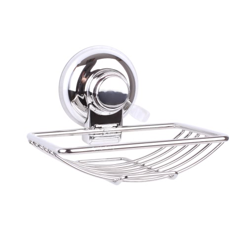 Rust-resistant Stainless Steel Wall-mounted Soap Dish Holder Saver Basket with Strong Vacuum Suction Cup for Bathroom Toilet Shower H17535