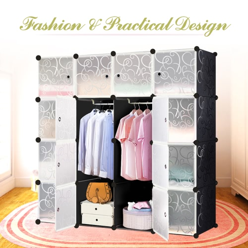 iKayaa Large Fashion Multi-use Clothes Closet Wardrobe Cabinet DIY Cloth Shoes Storage OrganizerIndoor furniture<br>iKayaa Large Fashion Multi-use Clothes Closet Wardrobe Cabinet DIY Cloth Shoes Storage Organizer<br><br>Blade Length: 50.0cm