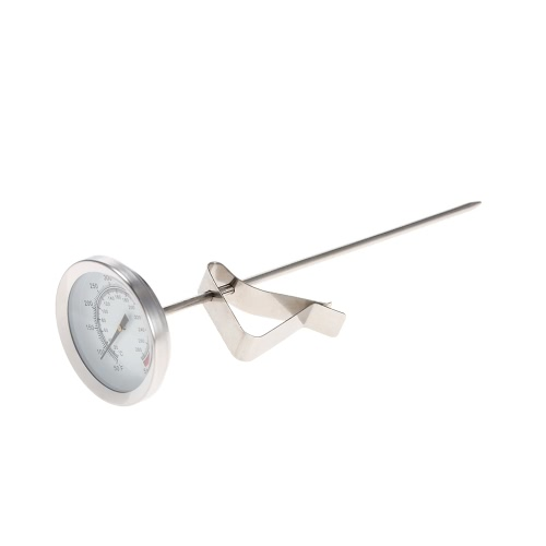 280¡ãC 550¡ãF Stainless Steel Cooking Food Milk Coffee Dial Probe Thermometer Temperature Gauge Dual Scale H17466