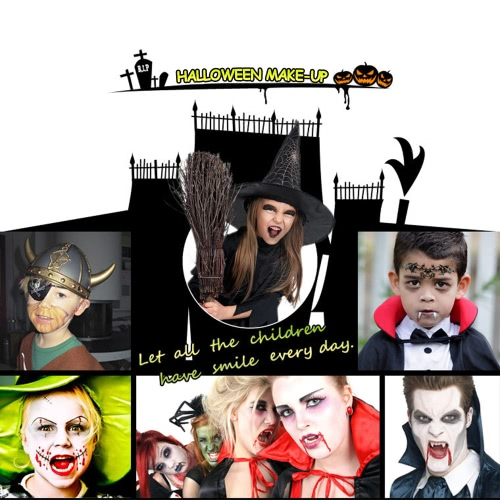 FESTNIGHT Halloween Make Up Face Paint Kit Skin Friendly Kids Adults Zombie Makeup Vivid Face Paint for Costume Show Masquerade Ball Make-up PartyHalloween Supplies<br>FESTNIGHT Halloween Make Up Face Paint Kit Skin Friendly Kids Adults Zombie Makeup Vivid Face Paint for Costume Show Masquerade Ball Make-up Party<br><br>Blade Length: 22.0cm