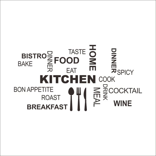 Self Adhesive Kitchen Utensils Tableware Dining Word Montage Wall Decal Mural Art Sticker Home Restaurant Decor DIYWall Stickers<br>Self Adhesive Kitchen Utensils Tableware Dining Word Montage Wall Decal Mural Art Sticker Home Restaurant Decor DIY<br><br>Blade Length: 30.0cm