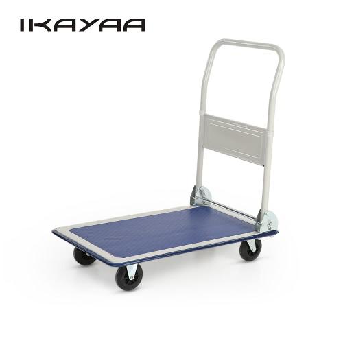 Buy iKayaa Heavy-duty 150KG Capacity Folding Platform Truck Cart Warehouse Foldable Dolly Hand 4 Wheels Office Industry Garden