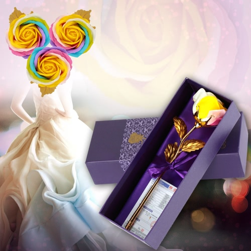 Real-Like Simulation Handmade Artificial Colorful Fragrant Rose