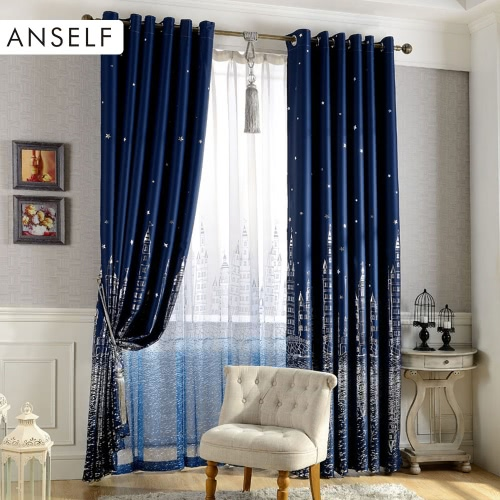 Anself 2Pcs 100*250cm European Style Mediterranean Castle Children Curtain Bedroom Shade Cloth Blackout Curtains Thick Window Screening with Grommet Wall Decoration Size 39*98Home Textile<br>Anself 2Pcs 100*250cm European Style Mediterranean Castle Children Curtain Bedroom Shade Cloth Blackout Curtains Thick Window Screening with Grommet Wall Decoration Size 39*98<br><br>Blade Length: 37.0cm