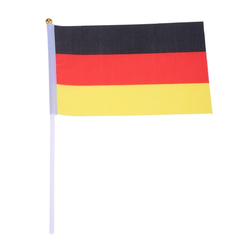 ANSELF 50pcs 2016 European Cup Olympic Games World Handheld Flag with Flagpole Flag for Euro 2016 International Day Sports Events Hand Flag Size 20 * 28cm H17108DE