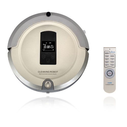 AmTidy A325 Multifunction Intelligent Robot Vacuum Cleaner with Sweep Vacuum Mop Sterilize LCD Touch Screen Schedule Self-charge H10252BEUS