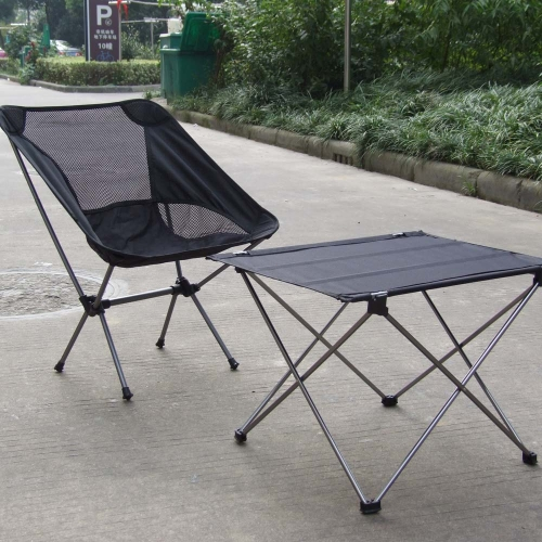 Portable Foldable Folding Table Desk Camping Outdoor Picnic 7075 Aluminium Alloy Ultra-light Grey