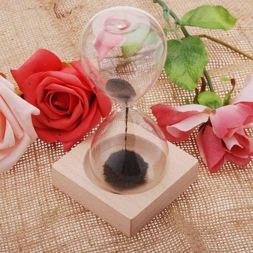 1pcs Magnet Hourglass Awaglass Hand-blown Timer Desktop Decoration Magnetic Hourglass Black1pcs Magnet Hourglass Awaglass Hand-blown Timer Desktop Decoration Magnetic Hourglass Black<br><br>Blade Length: 20.0cm
