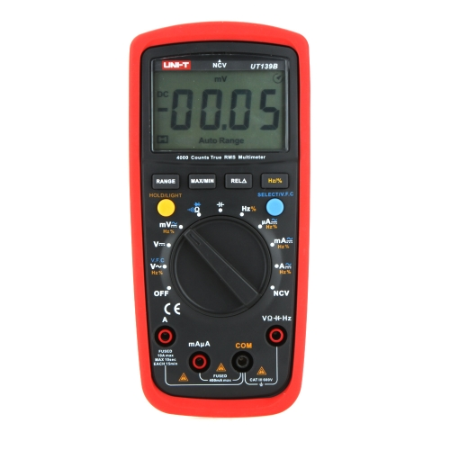UNI-T UT139B True RMS NCV 4000 Counts DMM Digital Multimeters w/ Capacitance & Frequency Test