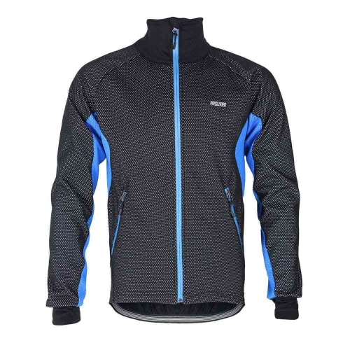 ARSUXEO Men Fleece Thermal Winter Cycling Jacket Windproof Bike Bicycle Wind Coat Clothing Casual Long Sleeve Jersey Water-resistant