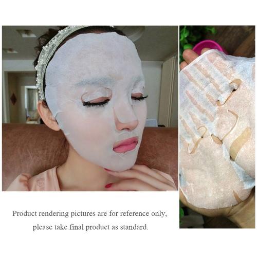 10Pcs Lady DIY Natural Skin Care Beauty Facial Face Mask Paper Cotton Non-Woven Fabrics H12896