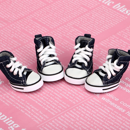 Lovely Casual Style Denim Canvas Pet Dog Boots Shoes H13290-4
