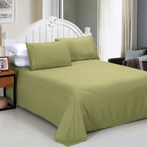 Shads Embroider Cording 4Pcs Bedding Set Fitted Sheet Bed Cover Pillow Cases Bedclothes Home TextilesStorage &amp; Organization<br>Shads Embroider Cording 4Pcs Bedding Set Fitted Sheet Bed Cover Pillow Cases Bedclothes Home Textiles<br><br>Blade Length: 28.0cm