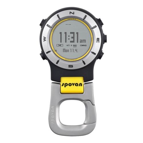 3ATM Waterproof Spovan Elementum II Multifunction Outdoor Sports Handheld Watch Barometer Altimeter Thermometer Compass Stopwatch