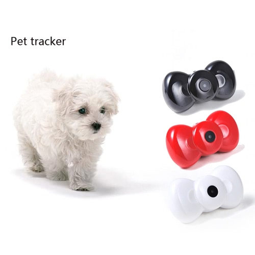 Mini Bow Tie MMS Video GSM/GPRS Locator Real Time Tracker for Pets Dogs Cats Tracking H14927B