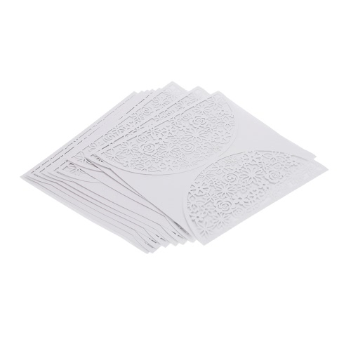 10Pcs Romantic White Wedding Party Invitation Card Delicate Carved FlowersWedding Supplies<br>10Pcs Romantic White Wedding Party Invitation Card Delicate Carved Flowers<br><br>Blade Length: 17.5cm