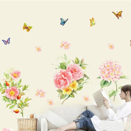 Buy Removable Wall Decal Sticker Flowers Butterflies DIY Wallpaper Art Decals Mural Room Decoration 60 * 90cm