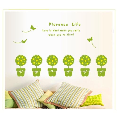 Buy Removable Wall Decal Sticker Green Plant DIY Wallpaper Art Decals Mural Room Decoration 50 * 70cm