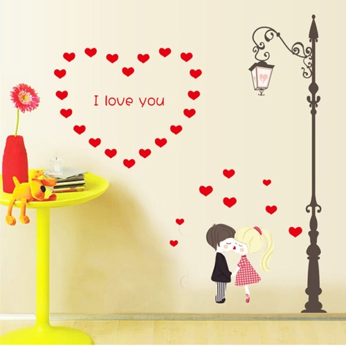 Buy Removable Wall Decal Sticker Romantic Love DIY Wallpaper Art Decals Mural Room Decoration 50 * 70cm