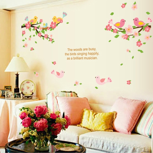 Buy Removable Wall Decal Sticker Flowers Birds DIY Wallpaper Art Decals Mural Room Decoration 50 * 70cm