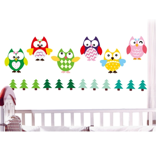 Buy Removable Wall Decal Sticker 8 Owls DIY Wallpaper Art Decals Mural Room Decoration 45 * 60cm