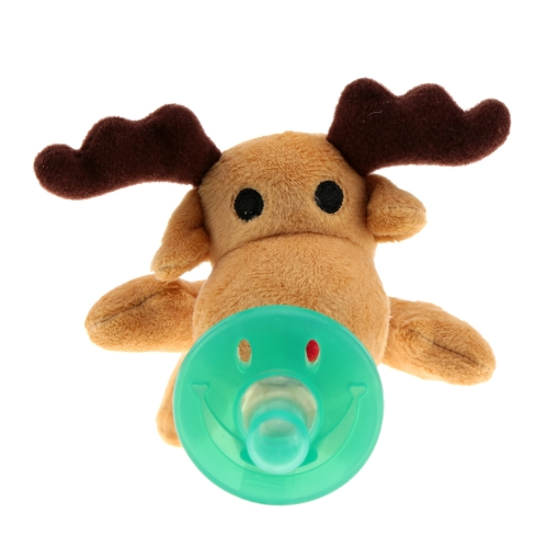 Cartoon Cute Infant Baby Silicone Pacifiers with Plush Animal Baby Nipples H15405-1