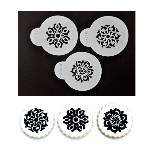 Anself S130 Cake Stencil Coffee Stenciling Chocolate Cookie Stencils H15519