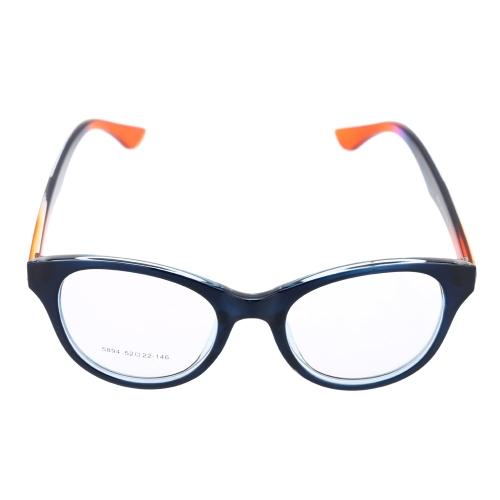 Fashionable Gradient Color Big Lenses Eyeglasses Glasses Frame Dark Blue H15640DB
