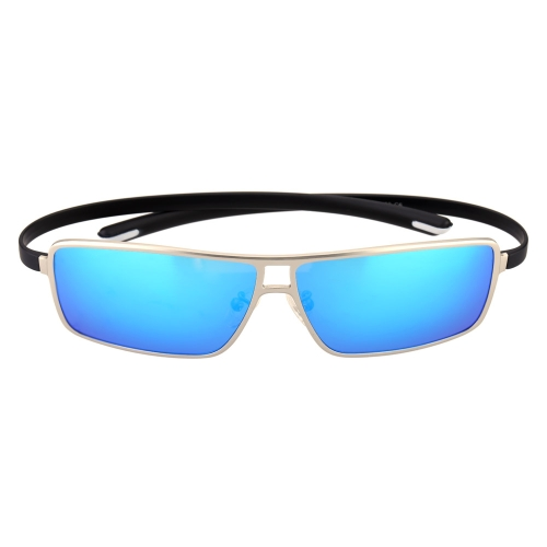Classic Huge Blue Lenses Sunglasses Polarized Glasses for Men H15643