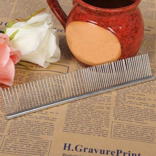 Dog Cat Hair Trimmer Comb Asymmetric Grooming Cleaning Brush for Long Hair Shaggy Pet H15716